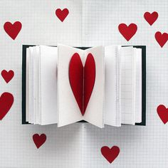 XOXO  Paper Heart Mini Journal  3.5 x 4.5  Mixed Paper by badbooks, £13.00