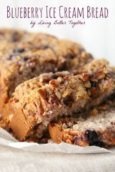 Blueberry Ice Cream Bread - Only 2 ingredients!