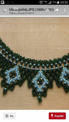 Seed Bead Necklace, Seed Bead Jewelry, Bead Jewellery, Beaded Necklace, Seed Bead Patterns, Beaded Jewelry Patterns, Beading Patterns, Beaded Christmas Ornaments, Handmade Beads