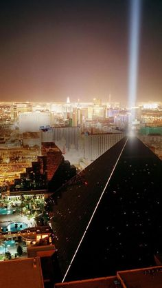 Night, Luxor Hotel, Las Vegas, Nevada, United States -- I think this is from Mix at The Hotel at Mandalay.