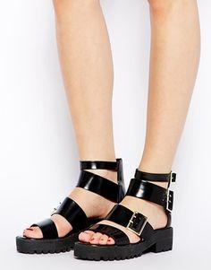 Image 4 ofASOS FREETOWN Chunky Flat Sandals