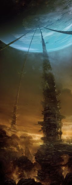 Moon Mine by Marcin Jakubowski - science fiction art - sci-fi Arte Sci Fi, Sci Fi Art, Fantasy Places, Sci Fi Fantasy, Fantasy World, Dark Fantasy, Final Fantasy, Art Science Fiction, Creation Art