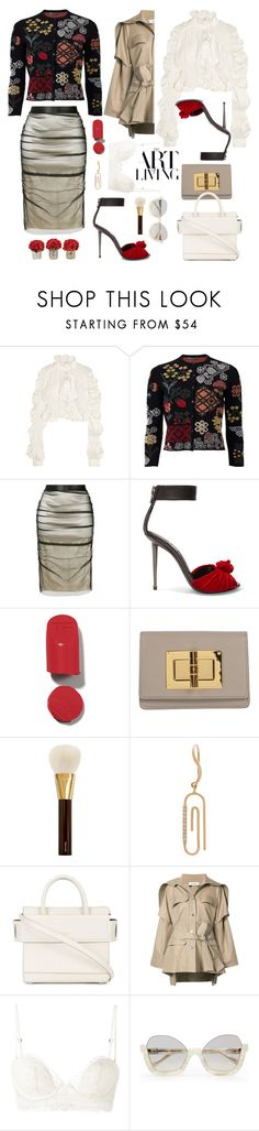 """Designer Days"" by sue-mes ❤ liked on Polyvore featuring Preen, Alexander McQueen, Tom Ford, Aurélie Bidermann, Givenchy, Courrèges, La Perla and The French Bee"
