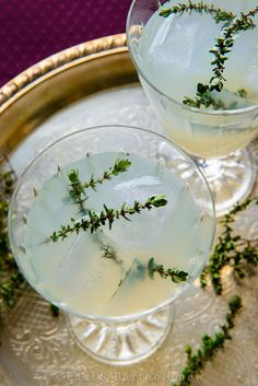 Vodka Thyme Cocktail: Fill a cocktail glass with ice and set aside. Muddle 3 or 4 thyme sprigs in a cocktail shaker, then add ice, 2 oz vodka, 1 oz lime juice and 1 oz sugar. Close shaker and shake vigorously. Strain over the ice in the glass and garnish with another thyme sprig.
