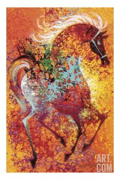 Colorful Horse Print by Pop Ink - CSA Images at Art.com