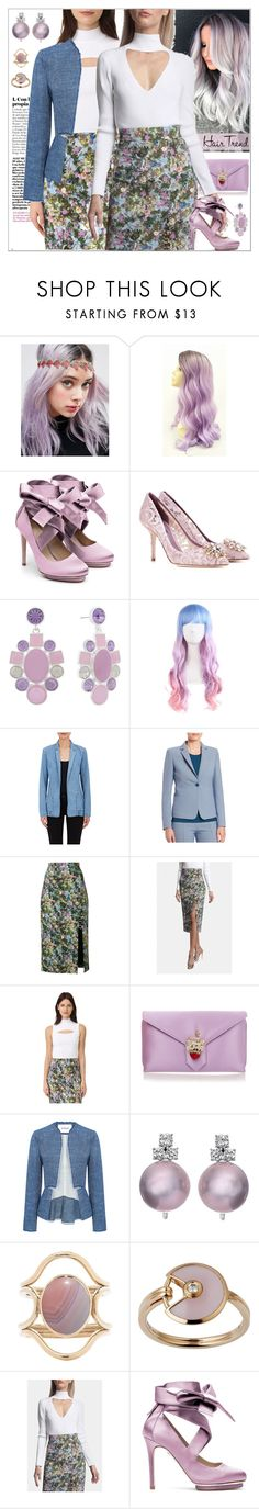 """Matchy-Matchy Hair"" by yours-styling-best-friend ❤ liked on Polyvore featuring beauty, ASOS, Liam Fahy, Dolce&Gabbana, Monet, 3x1, Akris Punto, Cushnie Et Ochs, Wilbur & Gussie and 10 Crosby Derek Lam"