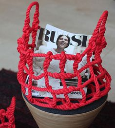 knot basket - more info: http://www.designboom.com/weblog/cat/8/view/12142/shigeki-fujishiro-knot-basket.html