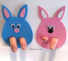 Easter Bunny Finger Puppets - Crafty Journal
