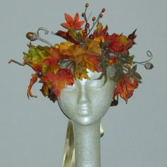 Autumn Woodland Faerie Crown - Adult Fairy Crown - headpiece for Fall Bride - Photo Prop - Halloween. $35.00, via Etsy.