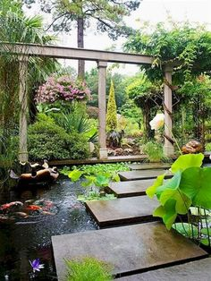 14 Backyard Ponds and Water Garden Landscaping Ideas – redecorationroom - Modern Large Water Features, Stone Water Features, Outdoor Water Features, Pool Water Features, Water Features In The Garden, Pond Design, Landscape Design, Garden Design, Backyard Water Feature