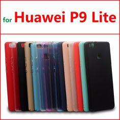 Huawei p9 lite cubierta de la caja tpu de silicona caso para huawei p9 lite cristal y colores sólidos ultra delgado