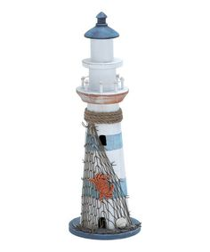 Take a look at this Wood Lighthouse Figure by UMA Enterprises on #zulily today!