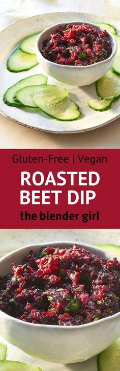 Vegan Roasted Beet Dip | Dairy Free Beet Dip | The Blender Girl