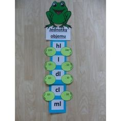 Jednotky objemu Teaching Aids, Teaching Math, Teaching Resources, Math Class, Fun Math, Activities For Kids, Montessori Math, Montessori Materials, Math Notes
