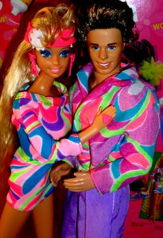 Barbie and Ken ToTally Hair 1991 Mattel by super.star.76, via Flickr