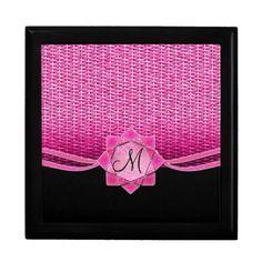 Rosette and Weave Pink Keepsake Box