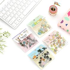 DIY Colorful Corner creature boot cat kawaii Stickers Diary Planner Journal Note Diary Paper Scrapbooking Albums PhotoTag  #Affiliate