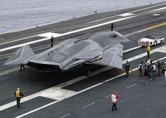 "SR-91 Aurora..Wow..This aircraft should have a Skunk on the tail..Meet the SR-71's big brother...Supposedly the Aurora prototypes all crashed, never made it past that stage. And this doesn't match the supposed ""sightings"" of them."