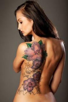 Floral Tattoo down the back.. want to extend mine down my back but have more vines and indian patterned detailing ❀
