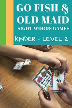Dolch Sight Words Games - Go Fish & Old Maid - Level 2 Kinder Dolch Sight Words, Sight Word Games, Reading Resources, Classroom Resources, Teaching Tips, Creative Teaching, Going Fishing, Learn To Read, Elementary Schools