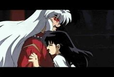 Inuyasha and Kagome's first kiss! This was in the second movie!