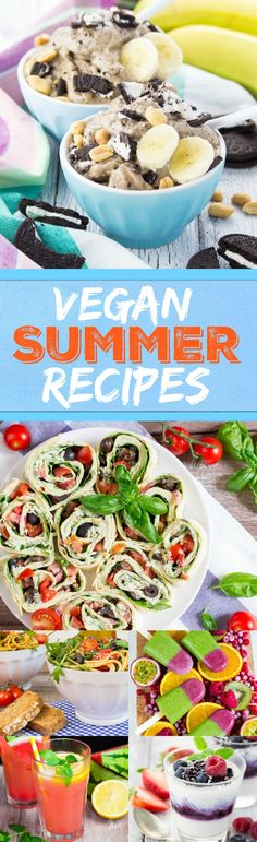Summer is finally here and to celebrate it I put together this list of 10 delicious vegan summer recipes! All of these recipes are really easy to make, made with fresh and light ingredients, healthy, and of course meat- and dairy-free! #vegan #summer #healthy #recipe #icecream