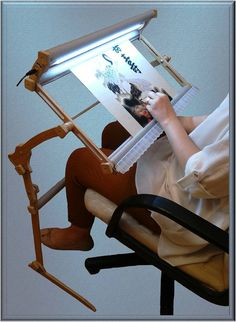 "Cross Stitch Stand with illumination Universal Needlepoint Hand embroidery Frame Standard  Universal illuminated embroidery equipment (3 in 1) This product made in Ukraine (Europe). This equipment is made in a set and be transformed into sofa/floor/table (according to your own design)  ""Standard"" (frame 60x30 cm) The equipment is completely transformed (packed size 15x20x70 cm, weight 2.5 kg)  Special features: 1) Embedded illumination. LEDs - 12 WT/hour, flicker-tree light (si..."