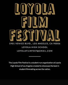 Danny Torres graduated Loyola High School prior to going to UC Berkeley. He was very proud as head of MCTV and Continuum Motion Pictures to be able to sponsor the first annual Loyola Film Festival representing the filmmaking success of high school students from around the country.