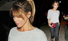 Danielle Lineker looks stylish in stripes
