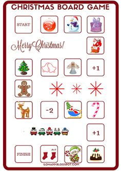 English Freak: CHRISTMAS BOARD GAME AND WORD CARDS PART 4 (PRINTA...