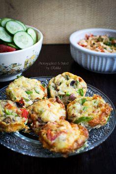 My Tasty Curry: Quick N Easy Breakfast : Mini Breakfast Quiche Recipe