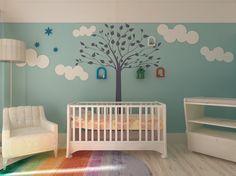 1000 id es sur pochoirs de mur d 39 arbre sur pinterest for Pochoir chambre enfant