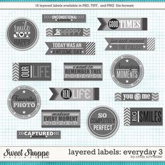 Cindy's Layered Labels - Everyday 3 by Cindy Schneider
