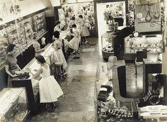 Section of the main showroom inside F. W. Nissen jewellery store in Brisbane, Queensland, ca. 1950