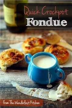 Quick Crockpot Fondue | from The Wanderlust Kitchen