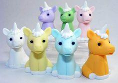 Unicorn erasers!!!!