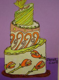 Wayne Thiebaud/Duff Goldman Inspired Monochromatic Cakes
