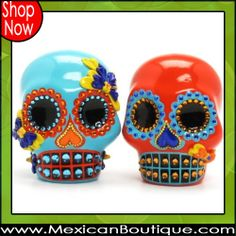 Til Death Do Us Part Skull Wedding Cake Topper  -♥- Mexican Decor | Mexican Folk Art | Skull | Cake Topper | DOD | Day of the Day | Day of the Dead Skull | Wedding Cake Topper | Wedding Topper | Skull Cake Topper | Mexican Boutique | Shop Now