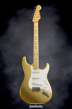 Fender American Vintage '59 Stratocaster - Aztec Gold, Limited Edition Color   Sweetwater.com   Solidbody Electric Guitar with Alder Body, Maple Neck, Maple Fretboard, 3 x Single-coil Pickups, Vintage Appointments, and Hard Case - Aztec Gold