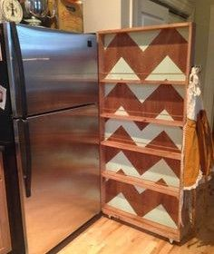Idea:  add wheels and dowel railings to my old Ikea book case to hold spices and other things to make room in kitchen cabinets and drawers.