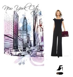 """""""An Evening Out In New York City"""" by onesweetthing on Polyvore featuring Peter Pilotto, Tory Burch and Chloé"""