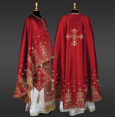 The KERKYRA set of vestments features rich gold and silver stylised floral embroidery, reflecting the vegetation of the uniquely beautiful island of Kerkyra (Corfu), whose inhabitants have held steadfastly to the faith of their Patron and protector, the Orthodox Priest, Cross Crafts, Byzantine Art, Gold Embroidery, Beautiful Islands, Black Men, Ready To Wear, Kimono Top, Silk