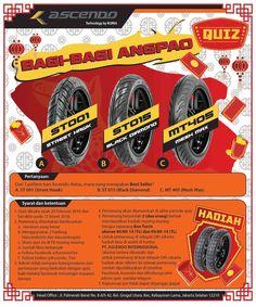 Sudah Ikutan Quiz di Facebook Ascendo Hanya berlaku di Facebook ya guys #ascendo #tire #ban #quiz #kuis #instagram #facebook #twitter #pinterest #tumblr #motor #banmotor #motorcycletire #outlet #bengkel #distributor #angpao #hadiah #gift #likes #follow #tag #win #prizes #fun #ascendotire #ascendoquiz #reminder