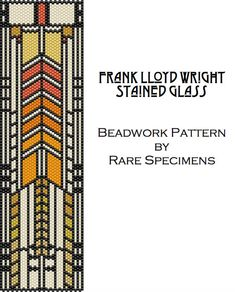 Frank Lloyd Wright Peyote Stitch Pattern 4  Cuff by RareSpecimens
