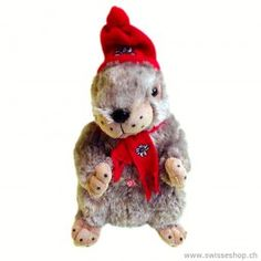 Murmeli 35cm / Marmot 35cm is a funny stuffed animal. Many marmots are in the mountaines of Switzerland.