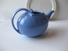 Vintage Art Deco Periwinkle Blue Hall Teapot by jenscloset on Etsy