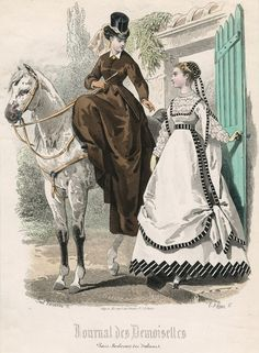 August fashions, 1867 France, Journal des Demoiselles    via OldRags.Tumblr