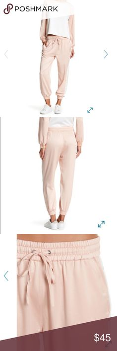 Brand New Pink Satin Jogger Pants Brand new pink satin jogger pants. Pants Track Pants & Joggers