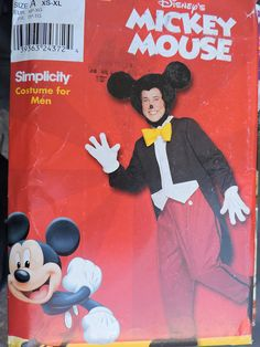 Items similar to Mickey Mouse Adult Disney Halloween Stage Play Walt Disney Character Simplicity 0612 / 9386 UNCUT Pattern Adult's Sz. Mickey Mouse Halloween, Walt Disney Mickey Mouse, Adult Halloween, Disney Halloween, Disney Costumes, Adult Costumes, Halloween Costume Patterns, Walt Disney Characters, Halloween Party Supplies