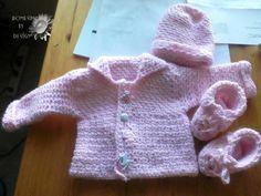 Handmade Crochet Baby Girl Sweater Hat & by HomespunByDesign, $25.00